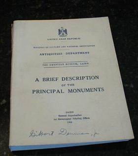 A Brief Description of the Principal Monuments UAR, N/a