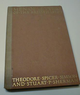 Men of Letters of the British Isles Numbered First Ed [Hardcover] by Hill, G. F., G. F. Hill