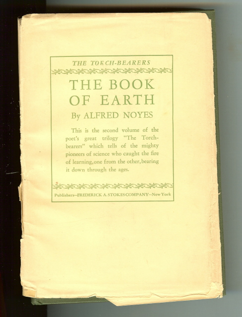The Book of Earth Alfred Noyes 1925 Signed [Hardcover] by Noyes, Alfred, Alfred Noyes