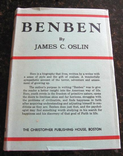 Benben James Oslin Signed San Antonio [Hardcover] by Oslin, James C, James C Oslin