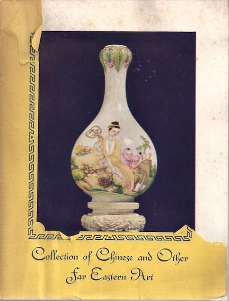 COLLECTION OF CHINESE AND OTHER FAR EASTERN ART ASSEMBLED BY YAMANAKA & COMPANY , INC. NOW IN PROCESS OF LIQUIDATION UNDER THE SUPERVISION OF THE ALIEN PROPERTY CUSTODIAN OF THE UNITED STATES OF AMERICA, Yamanaka & Company