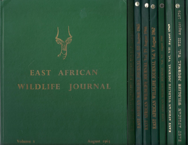 East African Wildlife Journal (9 volumes), Various